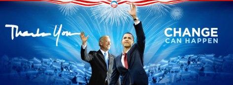 No site oficial da campanha, Obama agradece: